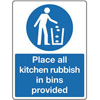 Sign Place All Kitchen Rubbish 150x200 Vinyl