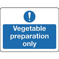 Sign Vegetable Preparation Only Self-Adhesive Vinyl 300x100