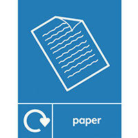 "Recycling Sign ""Paper"" Self-Adhesive Vinyl 150x200mm"