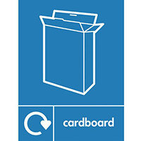 "Recycling Sign ""Cardboard"" Self-Adhesive Vinyl 150x200mm"