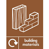 "Recycling Sign ""Building Materials"" Self-Adhesive Vinyl 150x200mm"