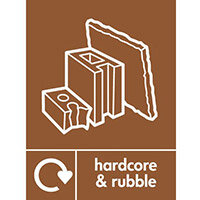 "Recycling Sign ""Hardware & Rubble"" Self-Adhesive Vinyl 150x200mm"
