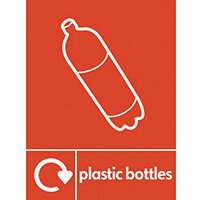 "Recycling Sign ""Plastic Bottles"" Self-Adhesive Vinyl 150x200mm"