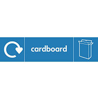 "Recycling Sign ""Cardboard"" Self-Adhesive Vinyl 350x100mm"