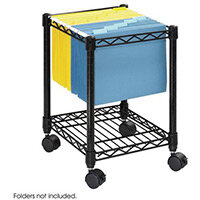 Wire Under Desk Mobile File Cart (Foolscap) Black (Bl)