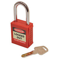 Safety Lockout Padlocks  Red (Each)