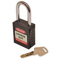 Safety Lockout Padlock  Black (Each)