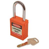 Safety Lockout Padlock  Orange (Each)
