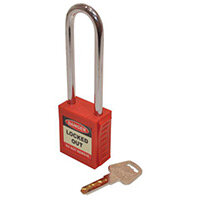 Safety Lockout Padlocks Long Shackle  Red (Each)