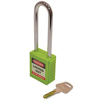 Safety Lockout Padlocks Long Shackle  Green (Each)