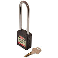 Safety Lockout Padlocks Long Shackle  Black (Each)