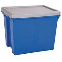 Wham Bam 24L Heavy Duty Box & Lid Blue/Silver