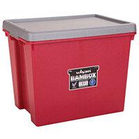 Wham Bam 24L Heavy Duty Box & Lid Chilli Red/Silver