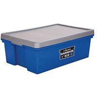 Wham Bam 36L Heavy Duty Box & Lid Blue/Silver