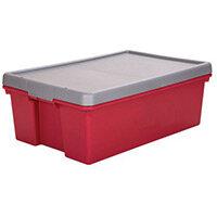 Wham Bam 36L Heavy Duty Box & Lid Chilli Red/Silver