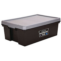 Wham Bam 36L Heavy Duty Box & Lid Black/Silver