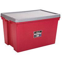 Wham Bam 62L Heavy Duty Box & Lid Chilli Red/Silver