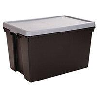 Wham Bam 62L Heavy Duty Box & Lid Black/Silver