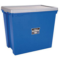 Wham Bam 92L Heavy Duty Box & Lid Blue/Silver