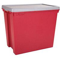 Wham Bam 92L Heavy Duty Box & Lid Chilli Red/Silver