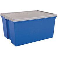Wham Bam 150L Heavy Duty Box & Lid Blue/Silver
