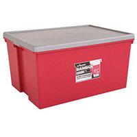 Wham Bam 150L Heavy Duty Box & Lid Chilli Red/Silver