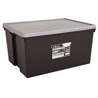 Wham Bam 150L Heavy Duty Box & Lid Black/Silver