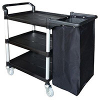 Three Tier Plastic Tray Trolley Open With Frame & Nylon Bag