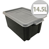 Black Storemaster Midi Crate Capacity 14.5 Litres
