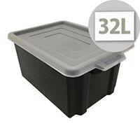 Black Storemaster Maxi Crate Capacity 32 Litres