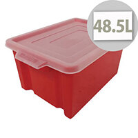 Storemaster Jumbo Crate Capacity 48.5 Litres Red