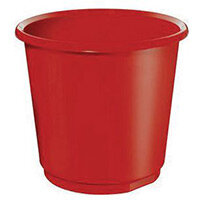 18 Litre Red Plastic Wastebaskets X 4