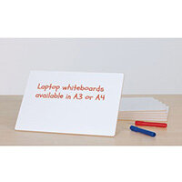 Small Hand-held Laptop Whiteboard A4 Pack of 6