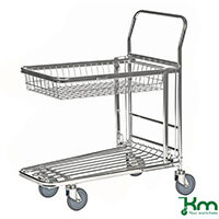 Nesting Stock Trolley With Retracting Wire Tray