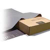 Polythene Grey Mailing Bags 250x350mm With 50mm Flap 50Mu,