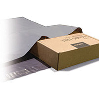 Polythene Grey Mailing Bags 320x440mm With 50mm Flap 50Mu,