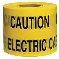 Non-Adhesive Printed Message Tape To Alert Contractors Of Buried Electrical Cable