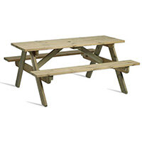 Hereford 8 Seater Sturdy Picnic Table Made From Fsc Certified Timber
