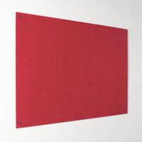 Eco-Colour Frameless Resist-A-Flame Board 600x900mm Red