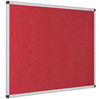 Eco-Colour Aluminium Framed Resist-A-Flame Board 600x900mm Red