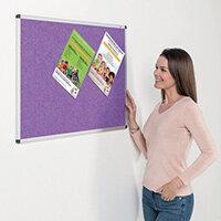 Eco-Colour Aluminium Framed Resist-A-Flame Board 600x900mm Purple
