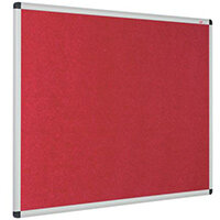 Eco-Colour Aluminium Framed Resist-A-Flame Board 1200x1800mm Red