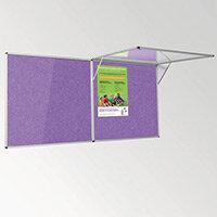 Eco-Colour Corridor Resist-A-Flame Tamperproof Board 900x1800mm Purple