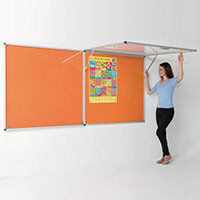 Eco-Colour Corridor Resist-A-Flame Tamperproof Board 900x1800mm Orange