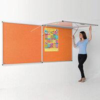 Eco-Colour Corridor Resist-A-Flame Tamperproof Board 1200x1800mm Orange