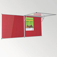 Eco-Colour Corridor Resist-A-Flame Tamperproof Board 1200x2400mm Red