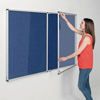 Eco-Colour Blue Tamperproof Resist-A-Flame Board Size HxW: 1200x1800mm
