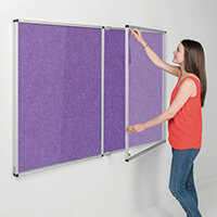 Eco-Colour Purple Tamperproof Resist-A-Flame Board Size HxW: 1200x1800mm