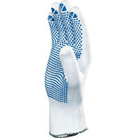 100% Polyamid Knitted Glove With Pvc Dots On Palm Size 9