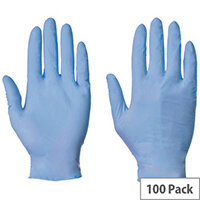 Blue Nitrile Powder Free Gloves Small
